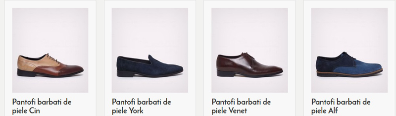 Pantofi de barbati din piele naturala fabricati in Romania