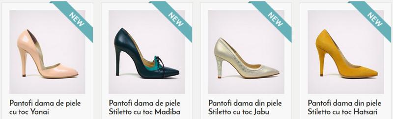 Pantofi de dama eleganti fabricati in Romania