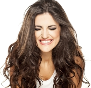 portrait of a beautiful smiling girl on white background